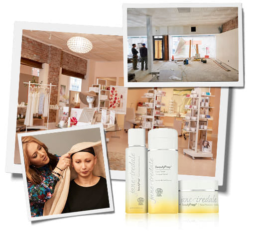 our new retail store in Great Barrington Massachusetts our BeautyPrep skincare line