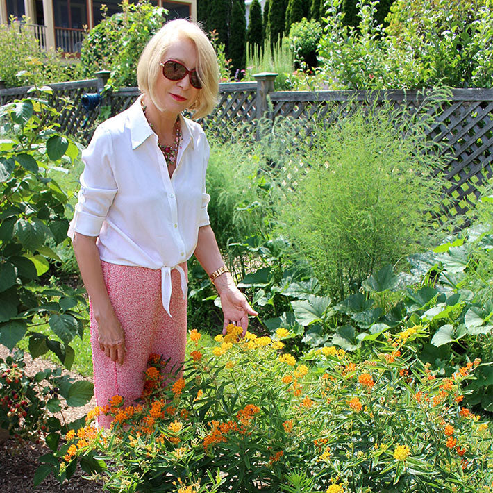 Jane Iredale in a Garden