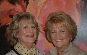 two blonde women named Lesley and Mary