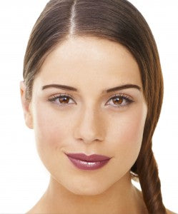 bold brows and berry lips look