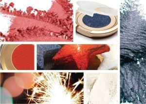 fourth of July makeup collage