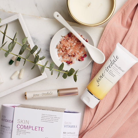 home spa day essentials from jane iredale