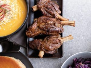 red wine braised lamb shanks