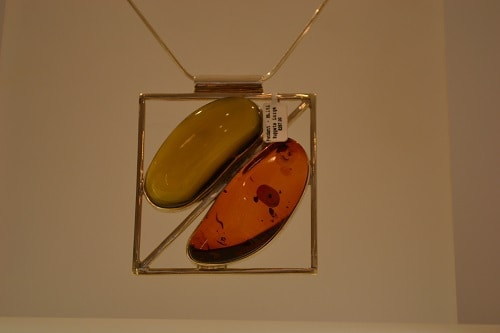 Amber and silver colours