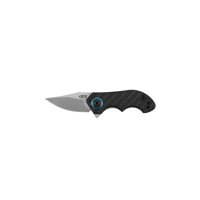 "Zero Tolerance 0022 Small Galyean Frame Lock Knife CF (1.8"" Stonewash) ZT"