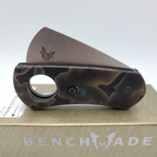 BENCHAMDE 1500-191 GOLD CLASS CIGAR CUTTER CPM-S90V NEW IN A BOX