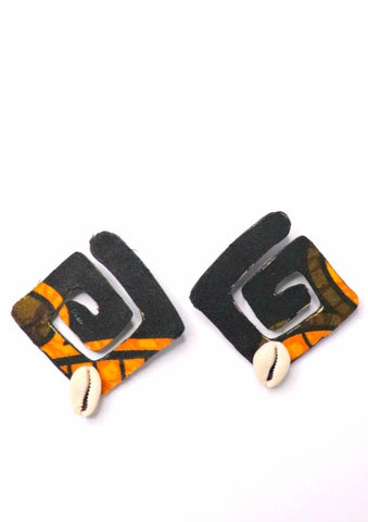 Wooden Earrings- Ethnic Complexity