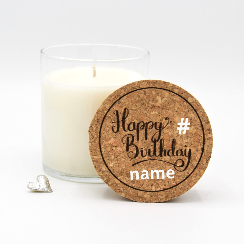Semi-Custom Happy Birthday Candle
