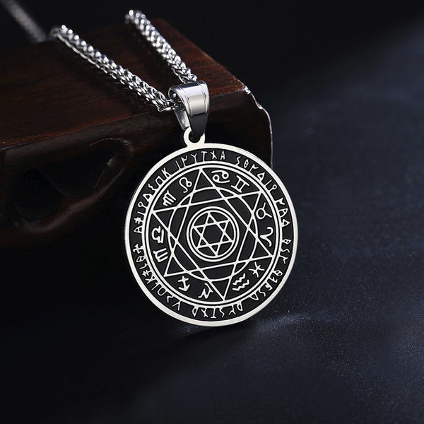 Stainless Steel Star of David Pendant Talisman