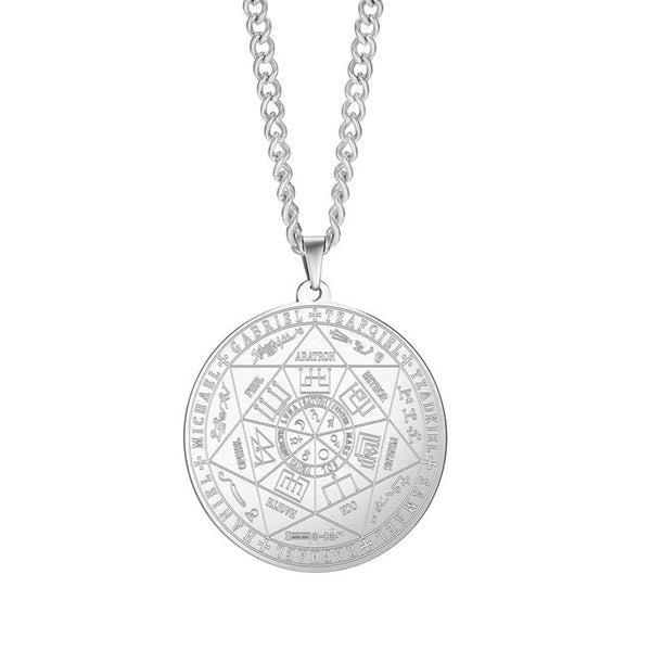 Seal of the seven Archangels Sigil Charm Necklaces Unisex