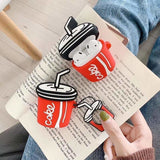 3D Cute Coke Cola Summer Silicone Protective AirPods 1 & 2 Case - AshleySale
