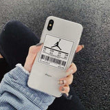 Air Jordan Style Transparent Soft Silicone Clear Sports iPhone Case - AshleySale