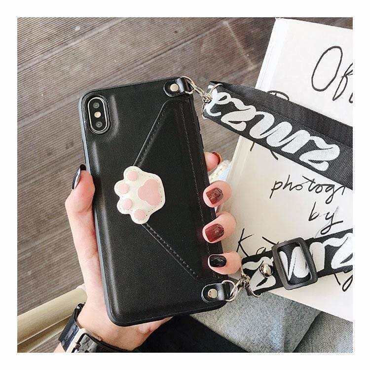 Best Luxury Style Cat Claw Card Package Imitation Leather Designer iPhone Case For Iphone 11 Pro Max X XS XS MAX XR 7 8 Plus - AshleySale