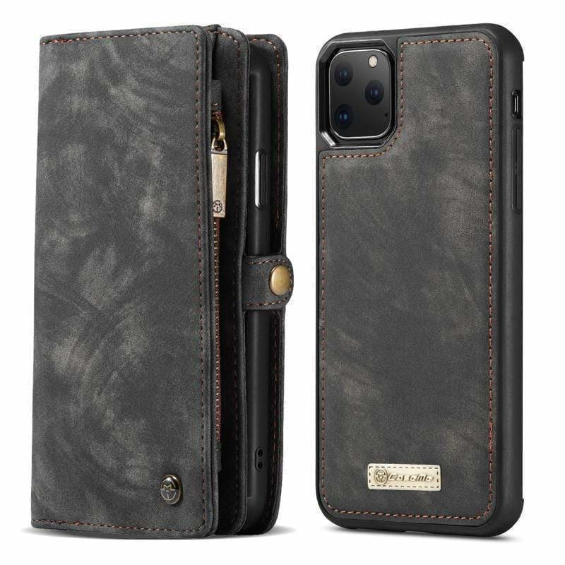 Best Luxury Style Clamshell Coin Leather Purse Designer iPhone Case For Iphone 11 Pro Max - AshleySale