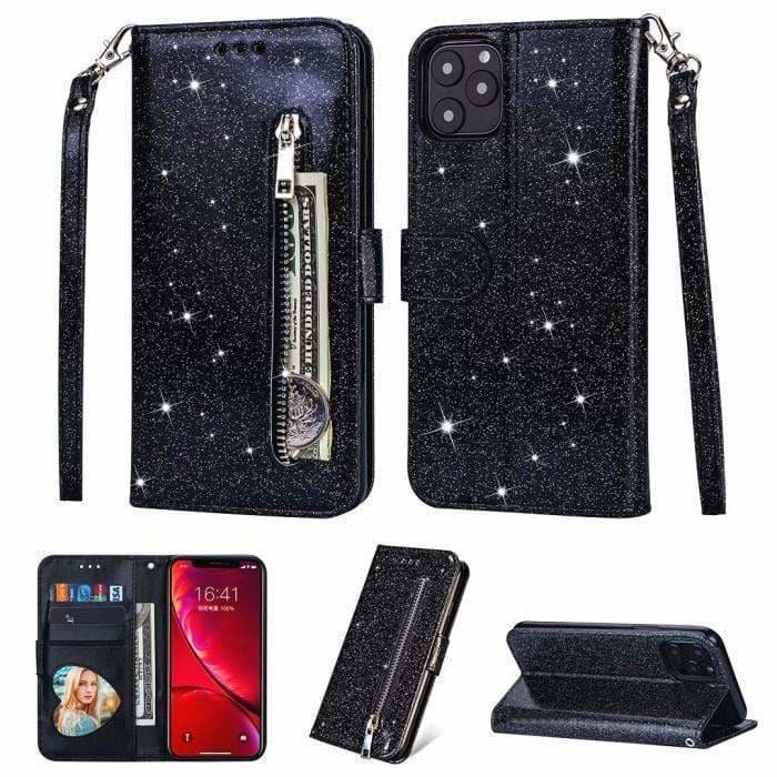 Best Luxury Style Flash Zipper Bag Designer iPhone Case For Iphone 11 Pro Max - AshleySale