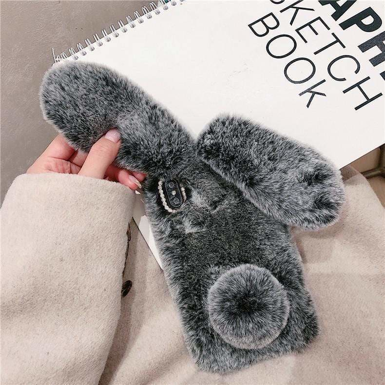 Best Luxury Style Plush Rabbit Designer iPhone Case For Iphone 11 Pro Max X XS XS MAX XR 7 8 Plus - AshleySale