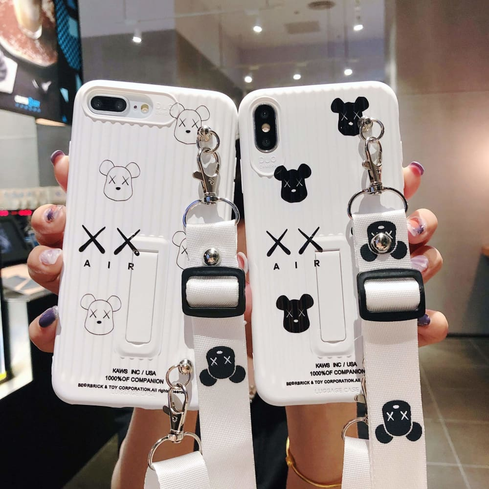 Best Luxury Style  Violent Bear Backpack Soft Glue Designer iPhone Case For Iphone 11 Pro Max X XS XS MAX XR 7 8 Plus - AshleySale