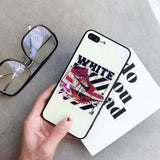 Blue Ray Off White Air Jordan AJ1 Blue Light Glass iPhone Case - AshleySale