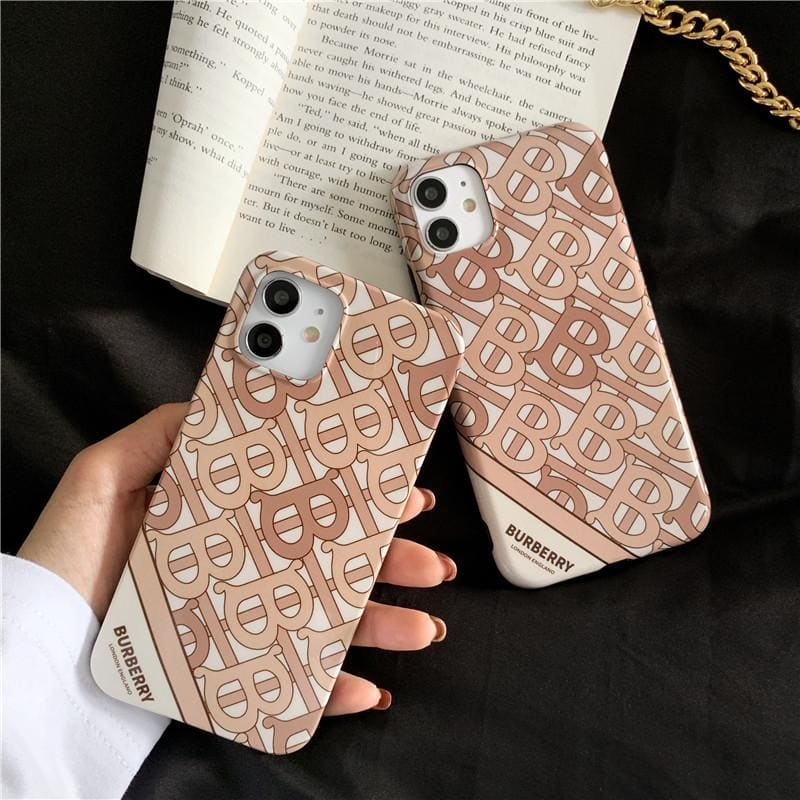 Burberry Style Acrylic  Protective Designer Iphone Case For Iphone 12 Pro Max Mini - AshleySale