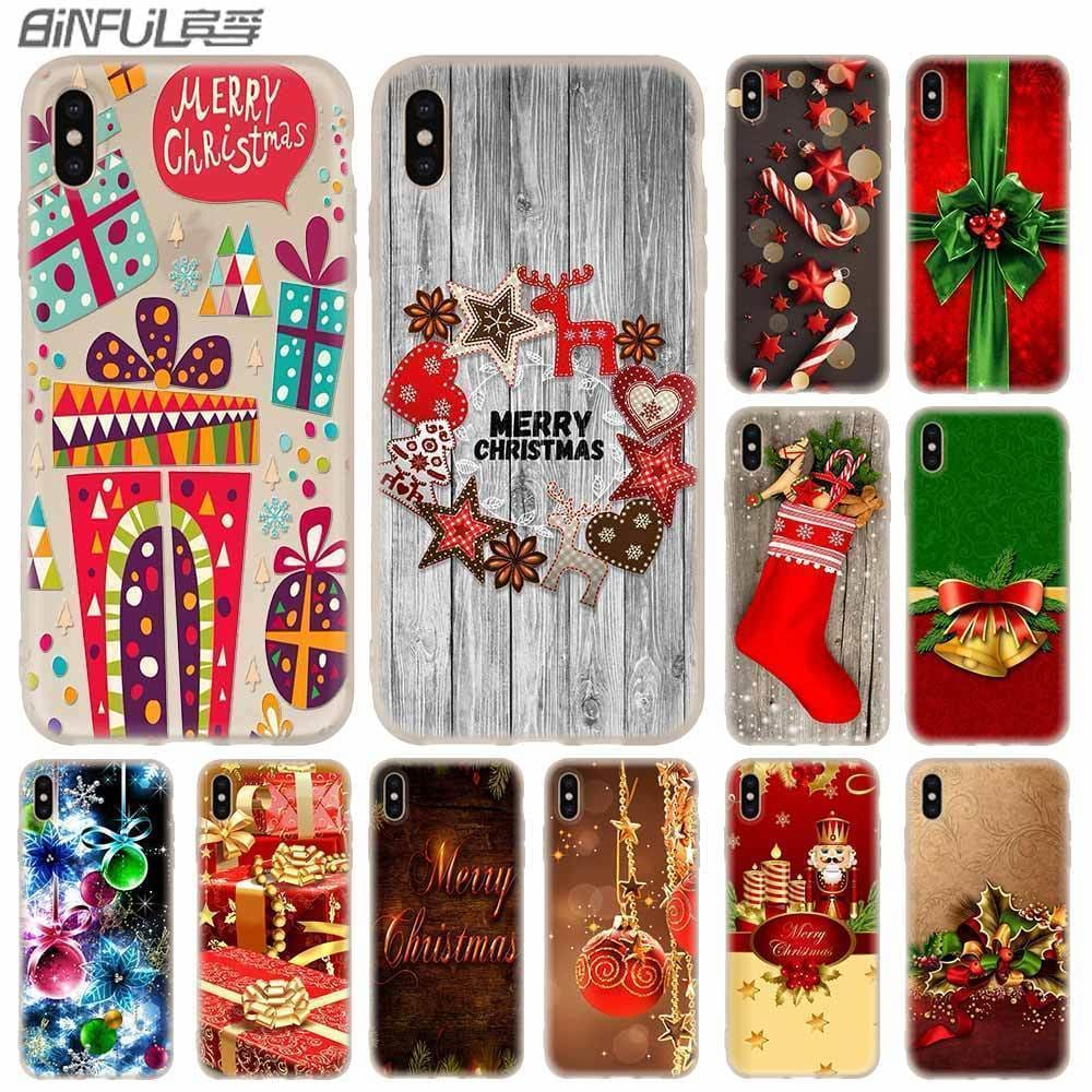 Cases Silicone soft Cover for iPhone 11 Pro X XS Max XR 6 6S 7 8 Plus 5 4S SE merry christmas sale - AshleySale