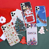 Christmas Case For iPhone XR 11 Pro XS Max X Santa Claus elk Soft TPU Silicone Cover For iphone 7 8 6 S 6S Plus 7 Plus Case - AshleySale