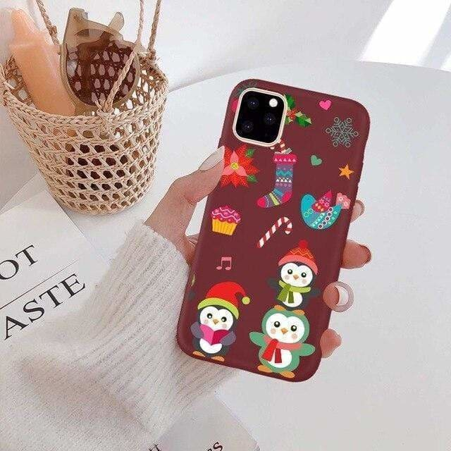 Christmas For iphone 11 Case Silicone Cute Santa Claus For iphone XR XS MAX 11 Pro max 7 8 6 6s plus X 10 Case Deer Snowman Gift - AshleySale