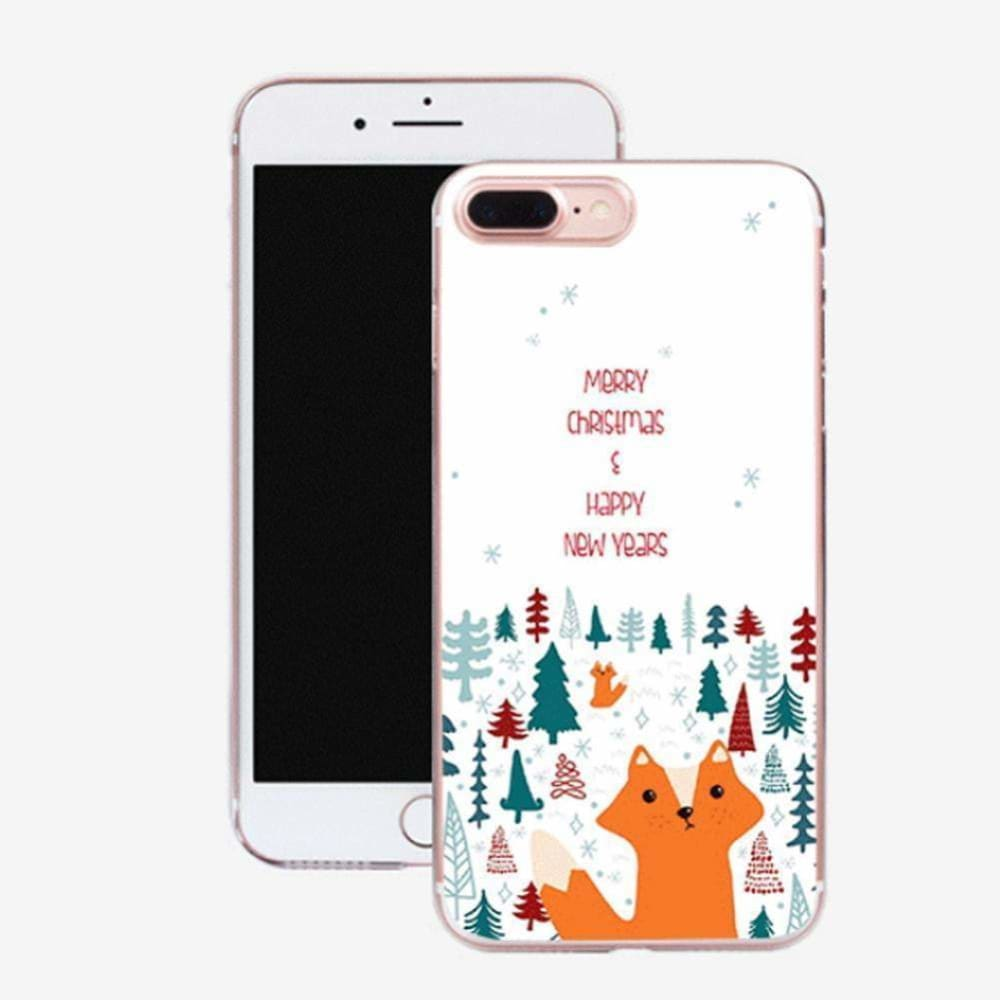 Christmas Phone Case For iPhone 11 Pro XS MAX XR X 8 7 6 6S Plus Cartoon Santa Claus Deer Elk Pattern Soft TPU Cover Coque Capa - AshleySale