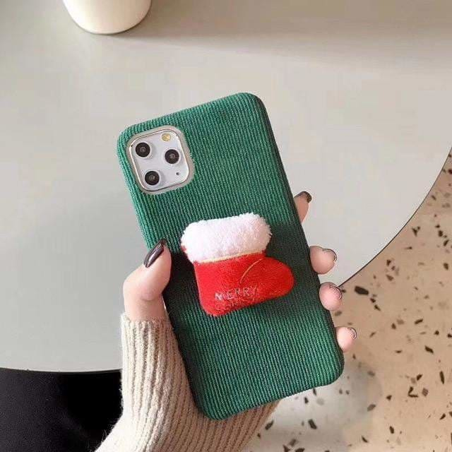 Christmas Winter Warm Fuzzy Phone Cases For iphone 11 Pro X XS Max XR Cloth Plush Coque Cover For iphone 6 6s 7 8 Plus Soft Case - AshleySale