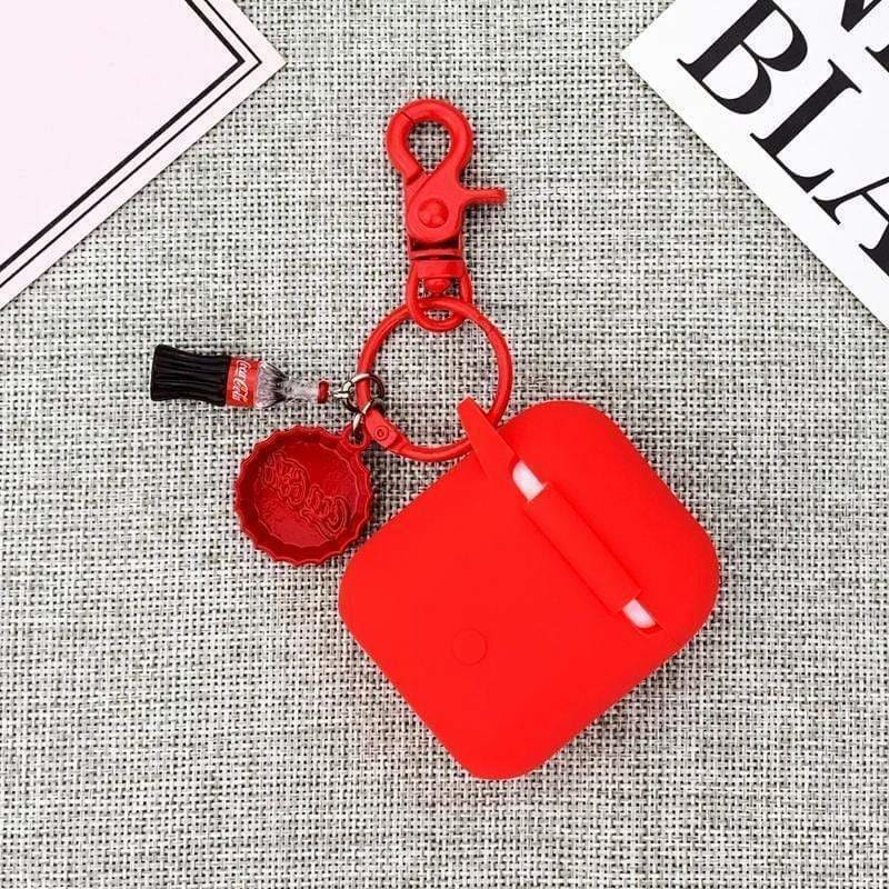 Coca-Cola Bottle Red Silicone Protective AirPods 1 & 2 Case - AshleySale