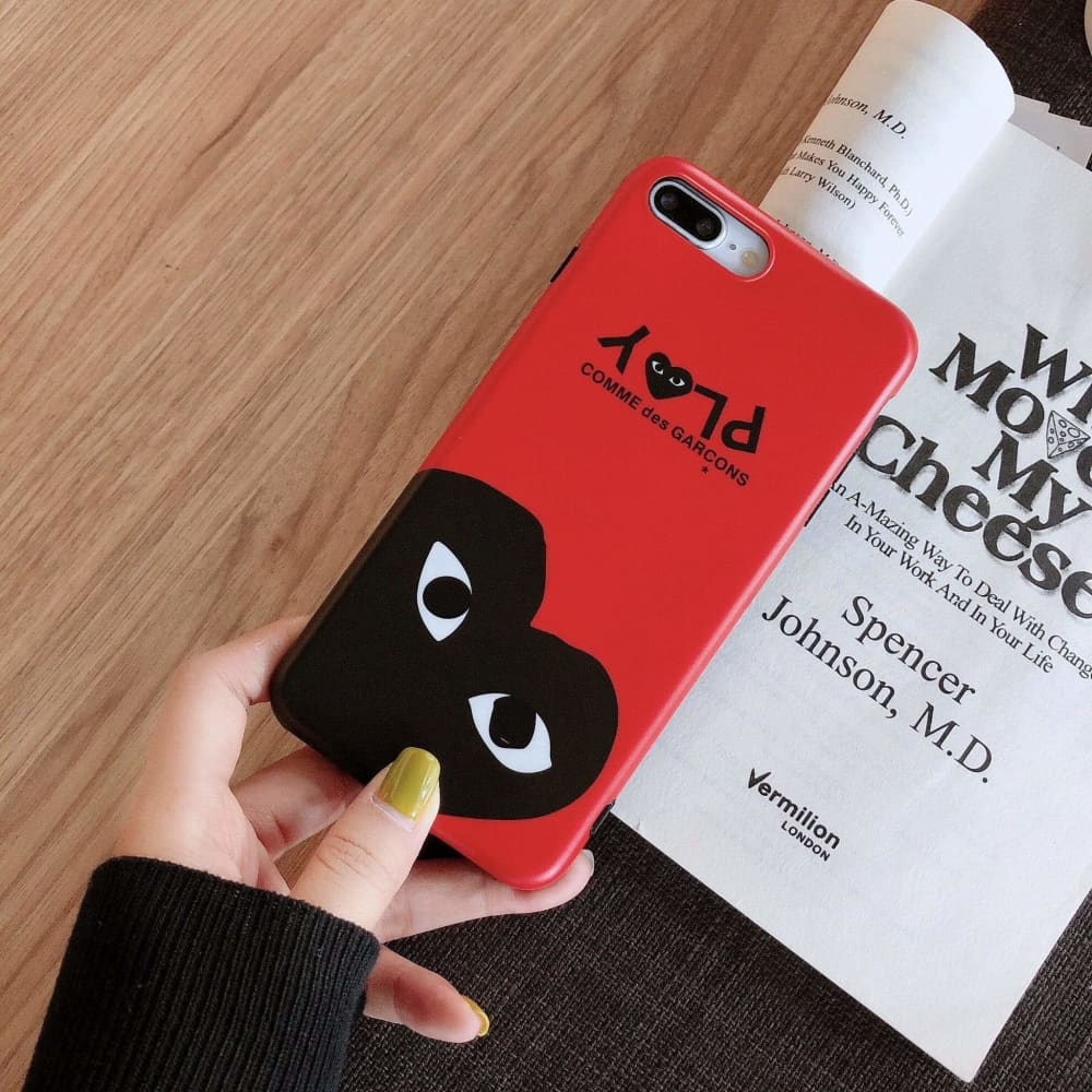 Comme Des Garcons CDG Play Style Classic Silicone Designer iPhone Case For iPhone X XS XS Max XR 7 8 Plus - AshleySale