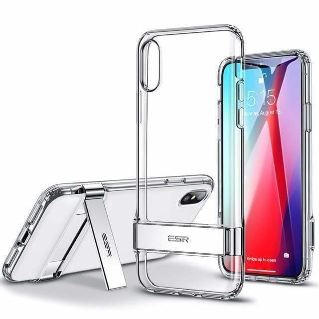 Crystal Clear Metal Kickstand Case Vertical and Horizontal Stand Soft - AshleySale