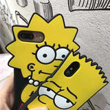 Cute Simpsons Lisa Soft Silicone Shockproof Airbag Designer iPhone Cas - AshleySale
