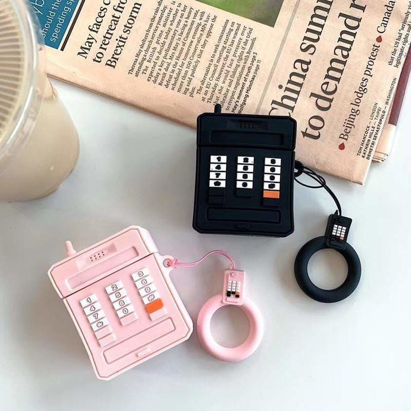 Cute Vintage Cellphone Retro Silicone Protective AirPods 1 & 2 Case - AshleySale