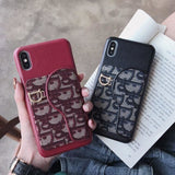Dior Style imitation leather  Protective Designer Iphone Case For Iphone 12 Pro Max Mini - AshleySale