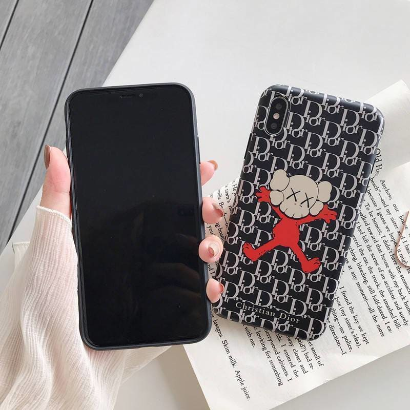 Fashion Dior Style Cartoon Soft Glue Designer iPhone Case For Iphone 11 Pro Max X XS XS MAX XR 7 8 Plus - AshleySale