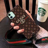 FASHION GUCCI STYLE CROSS SECTION SOFT GLUE DESIGNER IPHONE