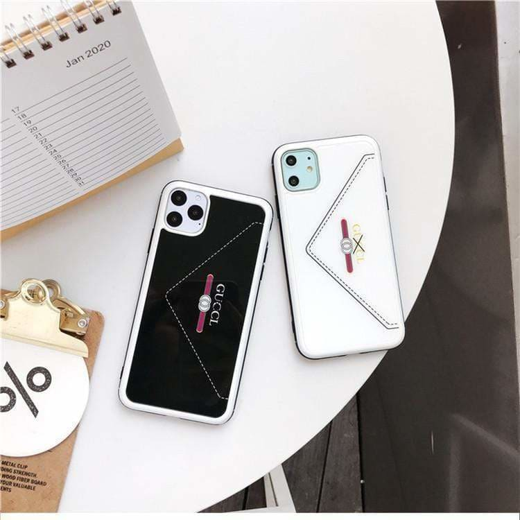 Fashion Gucci Style Envelope Tempered Glass Designer iPhone Case For Iphone 11 Pro Max X XS XS MAX XR 7 8 Plus - AshleySale