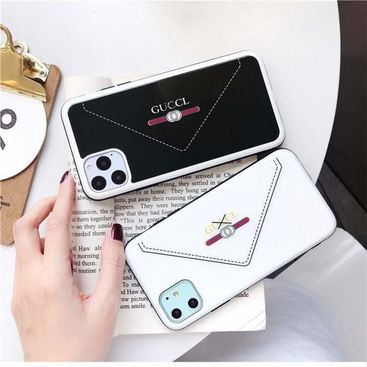 FASHION GUCCI STYLE ENVELOPE TEMPERED GLASS DESIGNER IPHONE