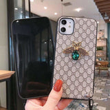 FASHION GUCCI STYLE GEM SOFT GLUE DESIGNER IPHONE CASE FOR