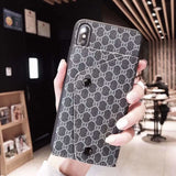 Fashion Gucci Style Soft Shell Card Package Designer iPhone Case For Iphone 11 Pro Max X XS XS MAX XR 7 8 Plus - AshleySale