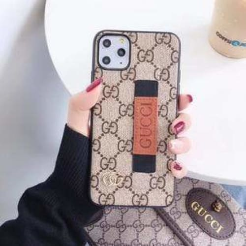 Fashion Gucci Style Wrist Band Imitation Leather Designer iPhone Case For Iphone 11 Pro Max X XS XS MAX XR 7 8 Plus - AshleySale