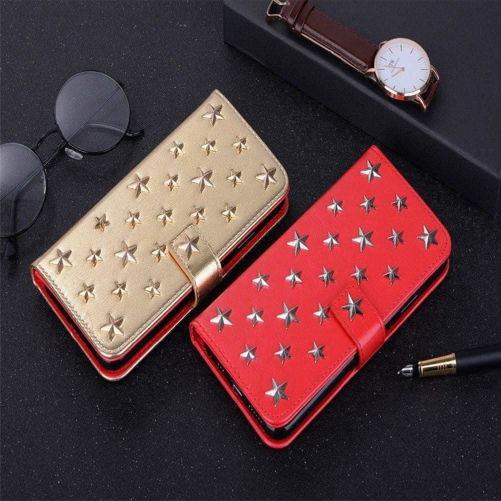 Fashion Wallet With Rivet Leather Card Holder Airbag Protective Design - AshleySale