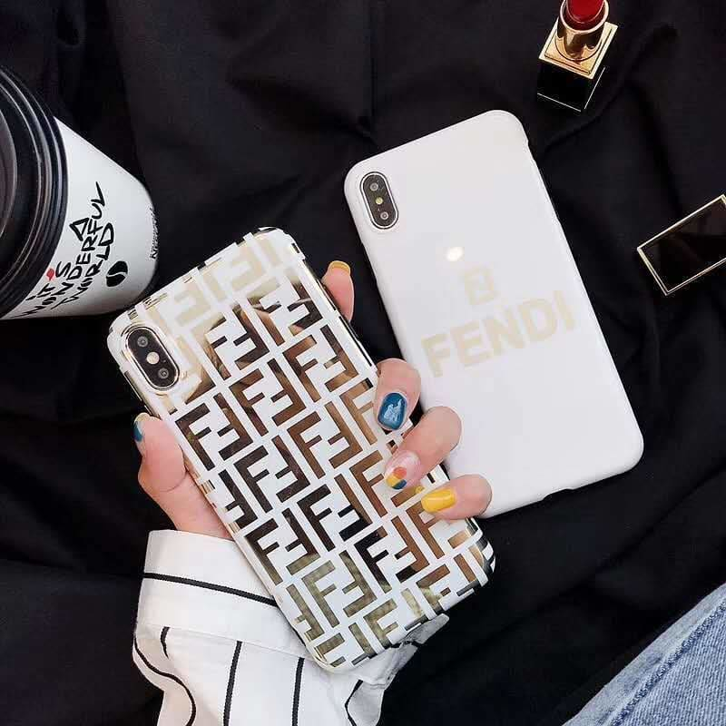 Fendi Style Electroplating Glossy TPU Silicone Designer iPhone Case For iPhone 11 Pro Max X XS XS Max XR 7 8 Plus - AshleySale