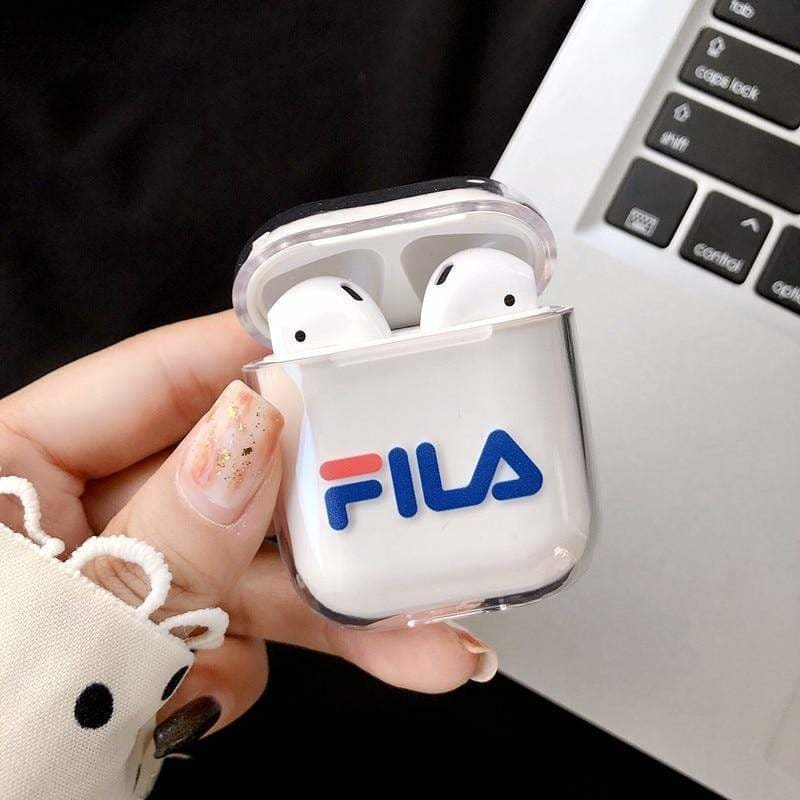 FILA Style Dickies Sports Clear Hard Protective AirPods 1 & 2 Case - AshleySale