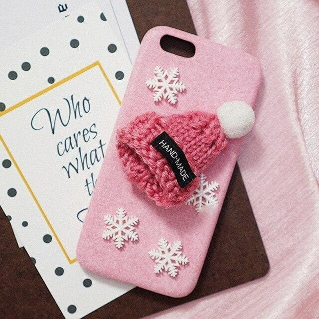 For iPhone XR X Xs 11 Pro Max Santa Claus Soft Plush Christmas Hat phone Case iPhone 7 8 6 6S Plus Cartoon Snowman Phone Case - AshleySale