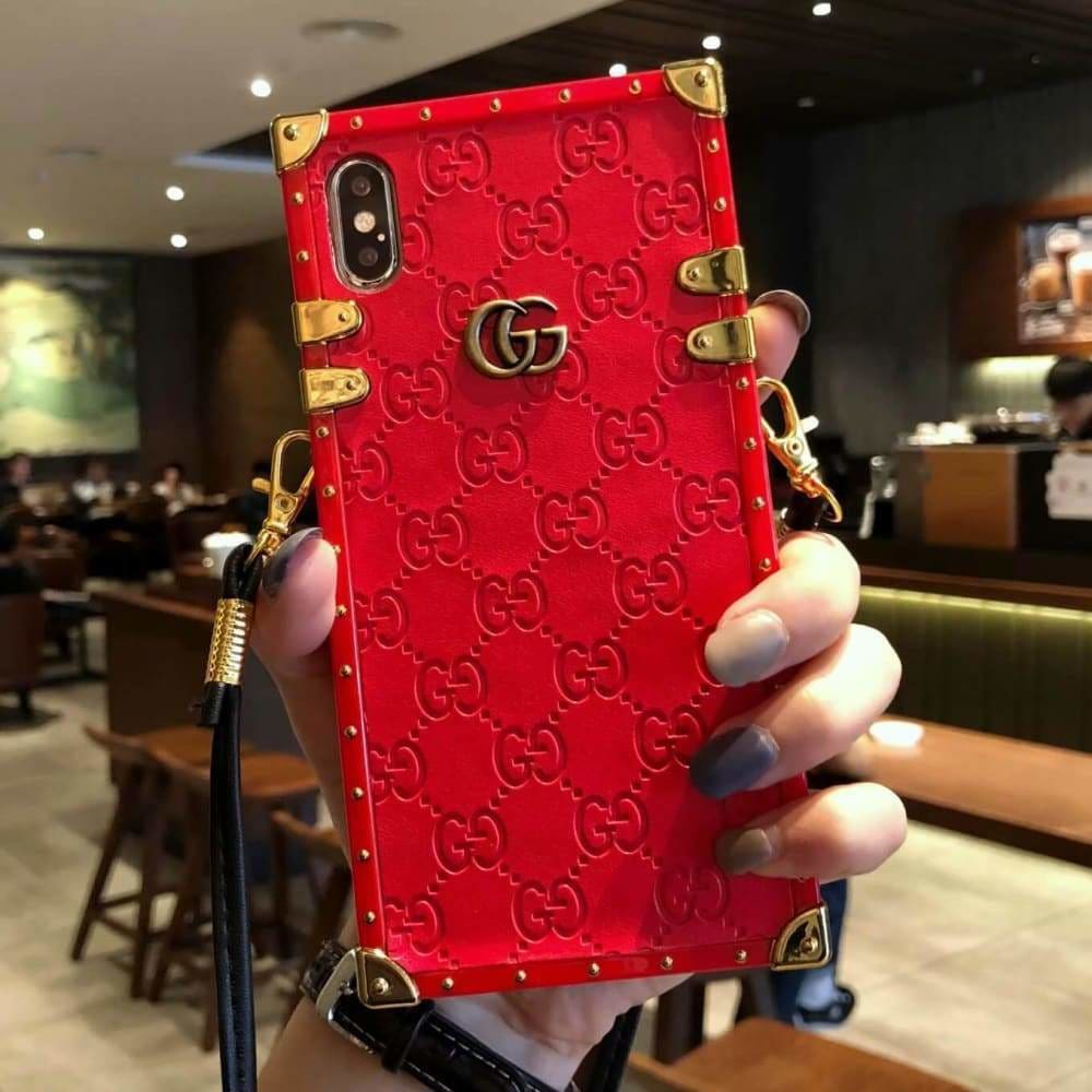 GUCCI IPHONE CASE BLACK 12 PRO MAX MINI LEATHER BACK -