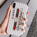 GUCCI IPHONE CASE WHITE 12 PRO MAX MINI LUGGAGE GRAFFITI -