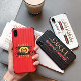 Gucci Style Meme Luggage Shockproof Designer iPhone Case For iPhone X XS XS Max XR 7 8 Plus - AshleySale