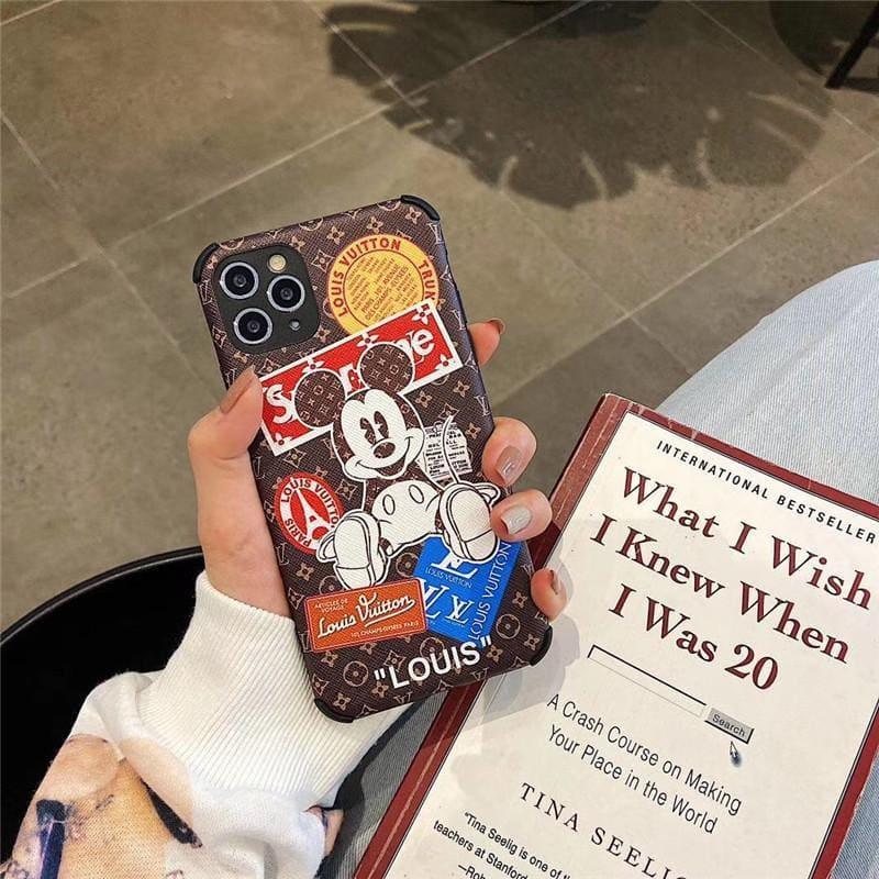 Gucci Style Silicone leather Protective Designer Iphone Case For Iphone 12 Pro Max Mini - AshleySale