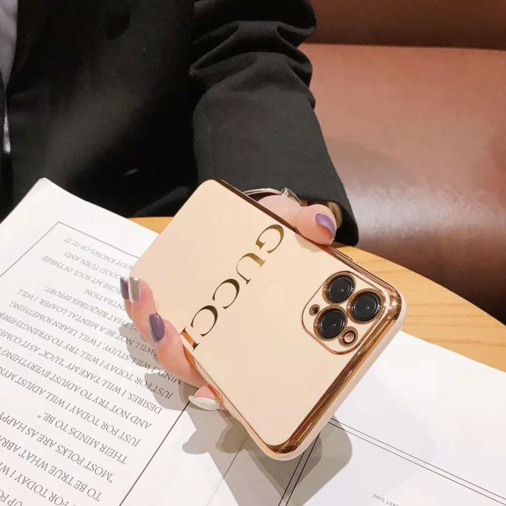 Gucci Style Soft Glue Protective Designer Iphone Case For Iphone 12 Pro Max Mini - AshleySale